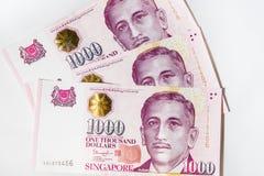 Δολάριο της Σιγκαπούρης, τραπεζογραμμάτιο Σιγκαπούρη στο λευκό Στοκ εικόνα με δικαίωμα ελεύθερης χρήσης