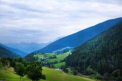 Δολομίτες Apls, πανόραμα της Ελβετίας Τοπίο Άλπεων δολομιτών, Στοκ φωτογραφία με δικαίωμα ελεύθερης χρήσης