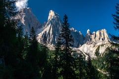 Δολομίτες - Monte Cristallo Στοκ Εικόνα