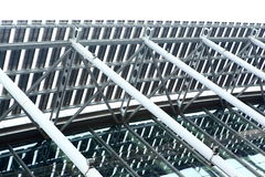 δομές χάλυβα οικοδόμησης Στοκ φωτογραφία με δικαίωμα ελεύθερης χρήσης