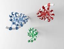 δομές DNA Στοκ εικόνες με δικαίωμα ελεύθερης χρήσης