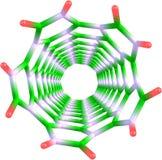 Δομή άνθρακα nanotube Στοκ Εικόνα