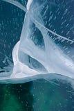 Δομή ή σύσταση πάγου στα μπλε χρώματα κιρκιριών Στοκ φωτογραφίες με δικαίωμα ελεύθερης χρήσης