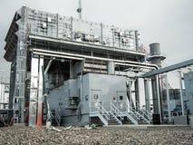 Δομή αεραγωγού εισαγωγής για τις εγκαταστάσεις παραγωγής ενέργειας Στοκ εικόνες με δικαίωμα ελεύθερης χρήσης