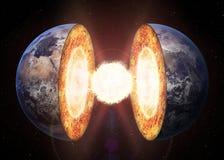 Δομή γήινων πυρήνων Στοκ Εικόνες