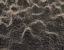Δομή δικτυωτού πλέγματος Υπόβαθρο επιστήμης ή τεχνολογίας σχεδιάστε γραφικό τρισδιάστατη επιφάνεια πλέγματος επίσης corel σύρετε  Στοκ φωτογραφία με δικαίωμα ελεύθερης χρήσης