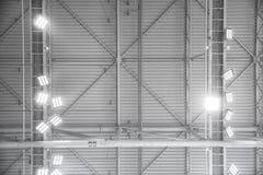 Δομή εσωτερικού στεγών μετάλλων της οικοδόμησης Στοκ Φωτογραφίες