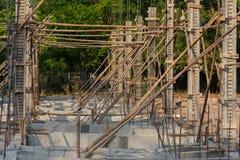 Δομή κτηρίου των συγκεκριμένων σωρών κτηρίου Στοκ Φωτογραφίες
