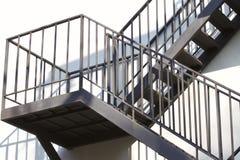 Δομή μετάλλων μιας σκάλας μετάλλων Στοκ Εικόνες