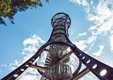 Δομή μετάλλων του πύργου παρατήρησης άγριας φύσης στοκ φωτογραφία με δικαίωμα ελεύθερης χρήσης