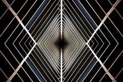 Δομή μετάλλων παρόμοια με το εσωτερικό διαστημοπλοίων Στοκ Φωτογραφίες