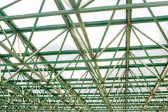 Δομή μιας στέγης θερμοκηπίων Στοκ Εικόνα