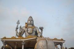 Δομή ναών Murudehswar τη νύχτα στοκ φωτογραφία
