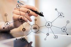 Δομή οργάνωσης Κοινωνικό δίκτυο ανθρώπων ` s Έννοια επιχειρήσεων και τεχνολογίας στοκ φωτογραφίες με δικαίωμα ελεύθερης χρήσης