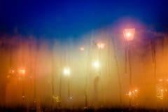 Δομή που διαμορφώνεται αφηρημένη από τη συμπύκνωση του νερού στο γυαλί με Στοκ Φωτογραφίες