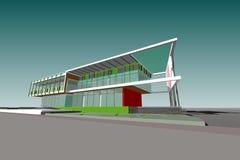 Δομή πολυκατοικίας σχεδίων αρχιτεκτονικής Στοκ Φωτογραφίες