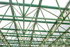 Δομή/σκελετός μιας στέγης θερμοκηπίων Στοκ φωτογραφίες με δικαίωμα ελεύθερης χρήσης