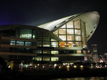 δομή σκηνής νύχτας αρχιτεκτονικής Στοκ φωτογραφία με δικαίωμα ελεύθερης χρήσης