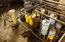 Δομή σωληνώσεων εγκαταστάσεων παραγωγής ενέργειας Στοκ Εικόνα