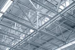 Δομή της βιομηχανικής στέγης μετάλλων Στοκ Εικόνες