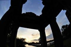 Δομή της εισόδου ναών Angkor Wat Στοκ Εικόνα