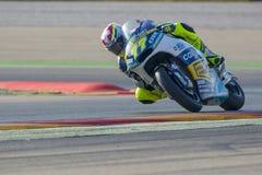 Δομίνικος Aegerter Moto2 Grand Prix Movistar Aragà ³ ν MotoGP Στοκ Εικόνες