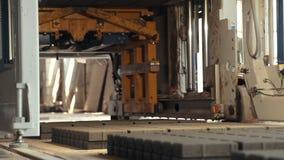 Δομικές μονάδες τσιμέντου mades στο εργοστάσιο Κωδικοποιητής-αποκωδικοποιητής Prores εγκαταστάσεων κατασκευής επίστρωσης απόθεμα βίντεο