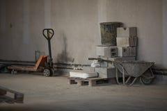 Δομικές μονάδες για τους τοίχους, δομικά υλικά Στοκ Εικόνες