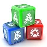 Δομικές μονάδες ABC Στοκ φωτογραφία με δικαίωμα ελεύθερης χρήσης