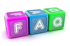 Δομικές μονάδες FAQ Στοκ Φωτογραφία