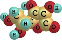 Δομικό πρότυπο της βιταμίνης C Στοκ εικόνες με δικαίωμα ελεύθερης χρήσης