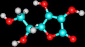 Δομικό πρότυπο της βιταμίνης C Στοκ φωτογραφία με δικαίωμα ελεύθερης χρήσης