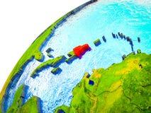 Δομινικανή Δημοκρατία στην τρισδιάστατη γη απεικόνιση αποθεμάτων