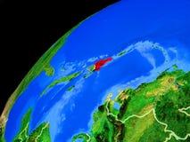 Δομινικανή Δημοκρατία στη γη από το διάστημα στοκ φωτογραφίες με δικαίωμα ελεύθερης χρήσης