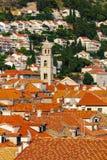 Δομινικανοί πύργοι μοναστηριών επάνω από το Dubrovnik, Κροατία Στοκ Φωτογραφία