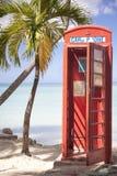 δομινικανό τηλέφωνο θαλάμ&o Στοκ Φωτογραφίες