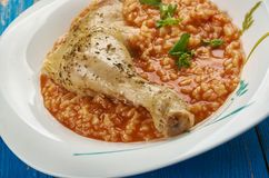 Δομινικανό pollo arroz con Στοκ Εικόνες