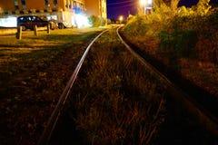 Δονούμενες διαδρομές σιδηροδρόμου στοκ εικόνες με δικαίωμα ελεύθερης χρήσης