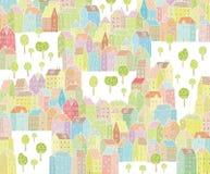 Δονούμενη απεικόνιση πόλεων Στοκ Εικόνες