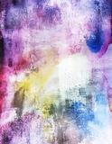 Δονούμενη γρατσουνισμένη Grunge ταπετσαρία Splatters Watercolors Στοκ Φωτογραφίες