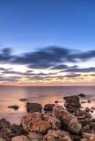 Δονούμενο ηλιοβασίλεμα στοκ φωτογραφίες με δικαίωμα ελεύθερης χρήσης