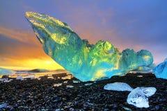Δονούμενο παγόβουνο Ισλανδία Στοκ Εικόνα