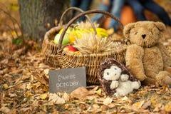 Δονούμενο φθινόπωρο σε ένα πάρκο Στοκ Φωτογραφίες