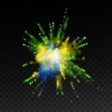 Δονούμενο φύσημα χρωμάτων απεικόνιση αποθεμάτων