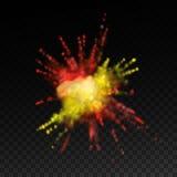 Δονούμενο φύσημα χρωμάτων διανυσματική απεικόνιση