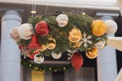 Δονούμενο χρώμα διακοσμήσεων Χριστουγέννων Στοκ φωτογραφία με δικαίωμα ελεύθερης χρήσης