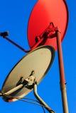 Δορυφορικά πιάτα Στοκ Φωτογραφίες