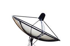 Δορυφορικά στοιχεία μετάδοσης πιάτων όσον αφορά το άσπρο υπόβαθρο Στοκ φωτογραφίες με δικαίωμα ελεύθερης χρήσης
