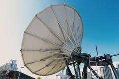Δορυφορική πίσω άποψη γήινων σταθμών Στοκ φωτογραφίες με δικαίωμα ελεύθερης χρήσης