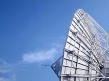 Δορυφορικό πιάτο κινηματογραφήσεων σε πρώτο πλάνο Στοκ Εικόνες